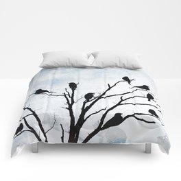 Blackbirds Tree Modern Cottage Chic Farmhouse Home Decor A503 Comforters