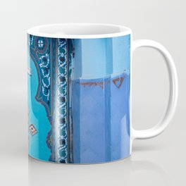 Blue Door in Chefchaouen, Morocco Coffee Mug