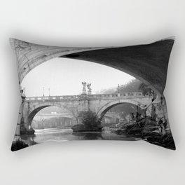 Sant'Angelo Bridge Rome Rectangular Pillow
