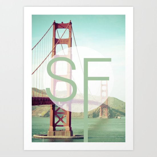 San Francisco Love Art Print