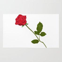 Single Red Rose Rug