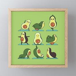 Avocado Yoga Framed Mini Art Print