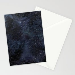 Antique World Star Map Navy Blue Stationery Cards