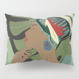 Woman with a Tuban Pillow Sham