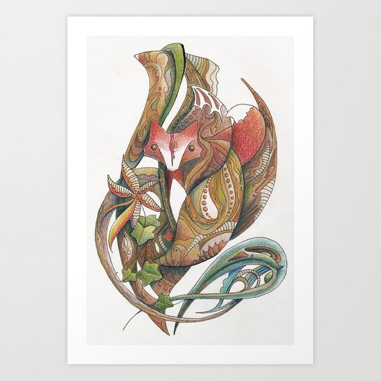 Essence of the fox Art Print