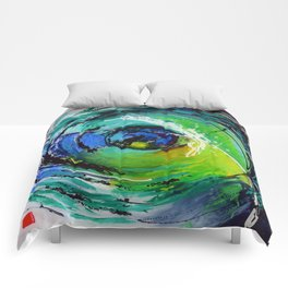 L'œil sur le futur, acrylique / Eye on the futur, Acrylic artwork Comforters