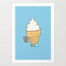 Everyone Poops (Blue) Art Print