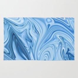Blue Water Silk Marble Rug