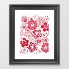 giving hearts giving hope: red garden Framed Art Print