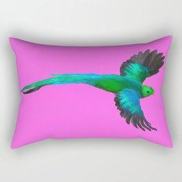 Painted Quetzal with Mexican Pink Rectangular Pillow