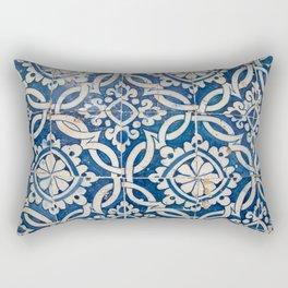 Vintage portuguese azulejo Rectangular Pillow