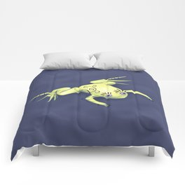 Funny Frog With Fancy Eyelashes Digital Art Comforters