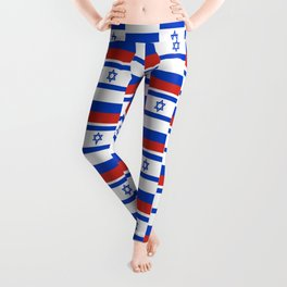 Mix of flag: israel and Russia Leggings