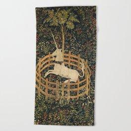 The Unicorn In Captivity Beach Towel