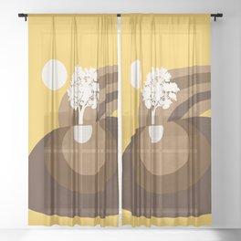 Modern shapes 7 Sheer Curtain