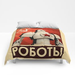 Robot Constructivist Art USSR Comforters