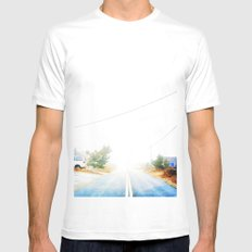 Walk the line MEDIUM White Mens Fitted Tee