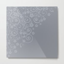 With a flourish A3 Metal Print
