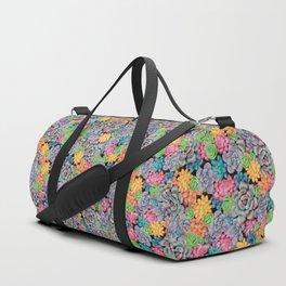 Rainbow Candy Succulent Plants   Colorful Cacti Duffle Bag