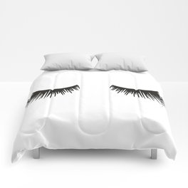 Closed Eyelashes Comforters