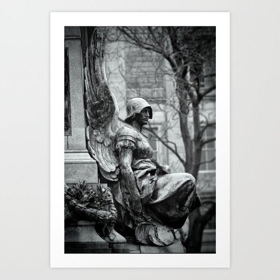 Winged Justice Art Print