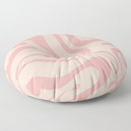 Soft Blush Pink Liquid Swirl Modern Abstract Pattern Floor Pillow