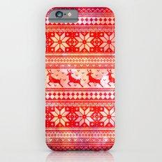 Reindeer Sweater Color Option Slim Case iPhone 6s