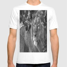 On the look out. MEDIUM White Mens Fitted Tee