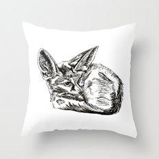 Little Fennec Fox Throw Pillow