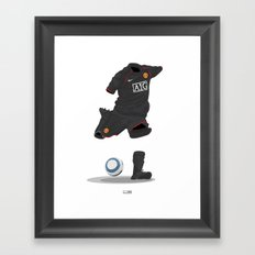 Manchester United 2007/08 - Champions League winners - Away Framed Art Print