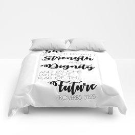 Proverbs 31:25 Comforters