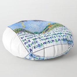 Vermont Weather Report Floor Pillow