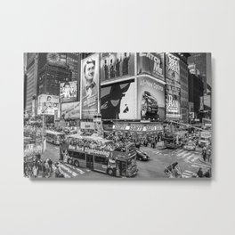 Times Square II Special Edition III BW Metal Print