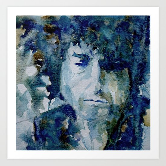 Tangled up in Blue ..Bob Dylan Art Print
