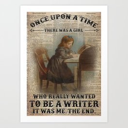 Job Jobs OUAT Girl Wanted To Be Writer Art Print