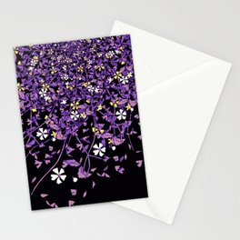 Nonbinary Pride Scattered Falling Flowers and Leaves Stationery Cards