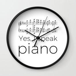 I speak piano Wall Clock