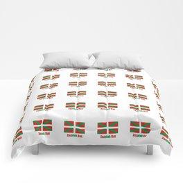 Flag of Euskal Herria 7-Basque,Pays basque,Vasconia,pais vasco,Bayonne,Dax,Navarre,Bilbao,Pelote,spa Comforters