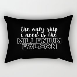 the only ship i need is the millenium falcon black Rectangular Pillow