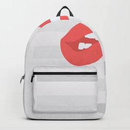 When Lips go Abstract Backpack