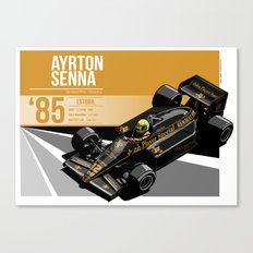 Ayrton Senna - 1985 Estoril Canvas Print