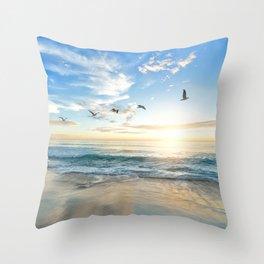 Beach Scene 34 Throw Pillow
