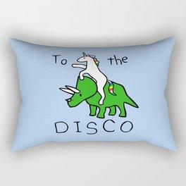 To The Disco (Unicorn Riding Triceratops) Rectangular Pillow