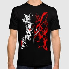 Naruto LARGE Black Mens Fitted Tee