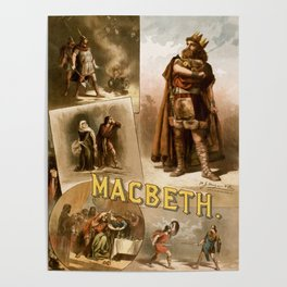 Vintage Macbeth Theatre Poster Poster