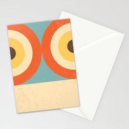 Mid Century Modern Geometrical 70s Style Retro Burnt Orange Stationery Cards