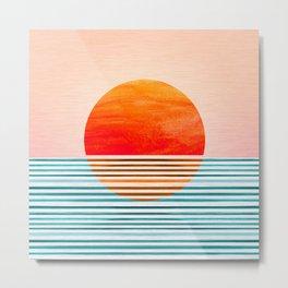 Minimalist Sunset III Metal Print