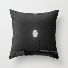 Lunar Eclipse (black and white) Throw Pillow