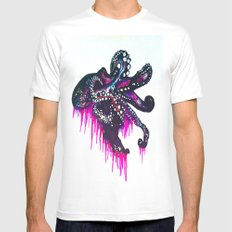 Octopie White MEDIUM Mens Fitted Tee