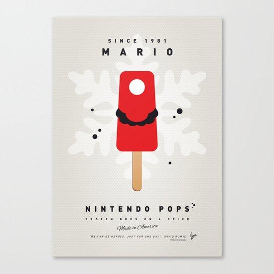 My NINTENDO ICE POP - Mario Canvas Print